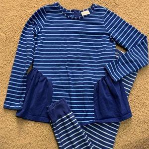 Size 150 Tunic & Opposite Stripe Loose Leggings